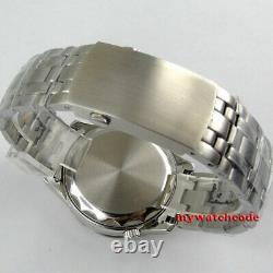 41mm bliger black blue dial sapphire glass Miyota 8215 NH35 automatic mens watch