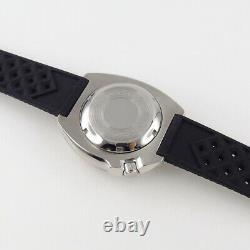 44mm Tandorio sterile black dial Japan NH35A Automatic Steel diving mens Watch
