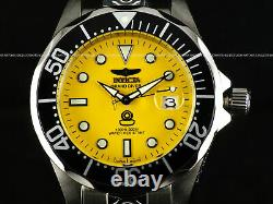ALL NEW! Invicta Men's 300M Grand Diver Automatic Yellow Dial SS Bracelet Watch