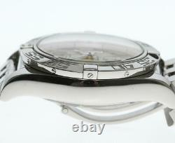 BREITLING Chronomat 44 AB0110 Silver Dial Automatic Men's Watch 579398