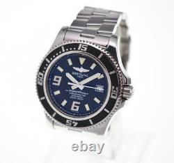 BREITLING Super Ocean A17391 black Dial SS Automatic Men's Watch S#100871