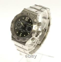 BVLGARI Diagono SCB38S Chronograph black Dial Automatic Men's Watch 538420
