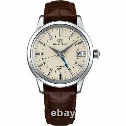 Brand New Men's Seiko Grand Seiko SBGM221 Automatic GMT Date Steel 40MM Watch