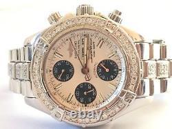 Breitling Superocean A13340 Chronograph diamond Mens Swiss Automatic Watch Box