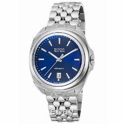 Bulova 63B186 Men's Accu-Swiss Telc Silver-Tone Automatic Watch