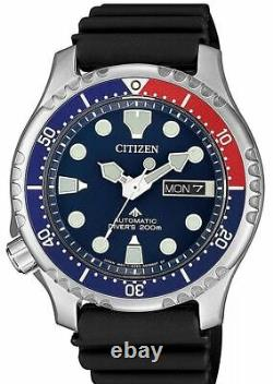 Citizen Promaster Automatic Divers Rubber Blue Dial Mens Watch NY0086-16L