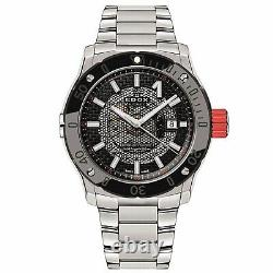 Edox 80099 3RM NIN Men's Stainless Steel Black Automatic Watch