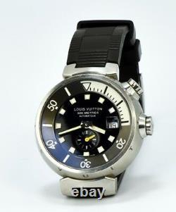 Excellent Louis Vuitton Q1031 Tambour Diver Automatic Men's Watch