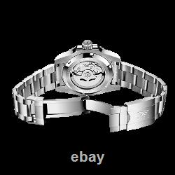 Exec NH35 40mm Submariner Homage Automatic Watch Date Sapphire Black Diver Steel