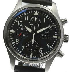 IWC Pilot IW371701 Day-Date Chronograph black Dial Automatic Men's 575182