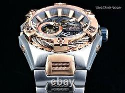 Invicta 52mm S1 Rally Bolt Hybrid Automatic Open Heart Rose Gold & Silver Watch