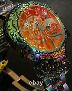 Invicta AUTOMATIC SKULL ARTIST SKELETONIZED Dial Iridescent 50mm Men RARE Watch