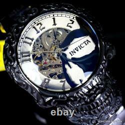 Invicta Artist Skull Automatic Skeletonized Black Stainless Steel 50mm Watch New