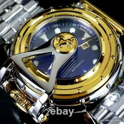 Invicta Chatham & Dover Stainless Steel Lefty Vintage Automatic Blue Watch New