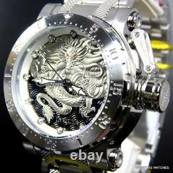 Invicta Coalition Forces Dragon Silver Tone Steel 52mm Automatic Watch New