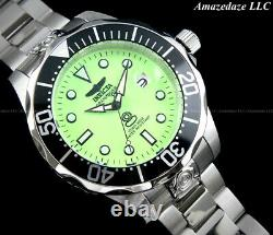 Invicta Men 47mm GRAND DIVER Automatic GREEN LUME DIAL Stainless St. 300M Watch