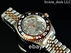 Invicta Men's 45mm Pro Diver AUTOMATIC NH35A METEORITE DIAL Silver/Rose SS Watch