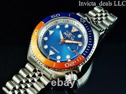 Invicta Men's 47mm Pro Diver SEA WOLF AUTOMATIC Blue & Orange Tone Silver Watch