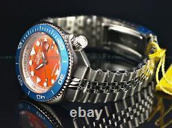 Invicta Men's 47mm Pro Diver SEA WOLF Automatic Blue Bezel Orange Dial SS Watch