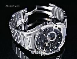 Invicta Men's 52mm Akula Automatic Skeletonized Silver and Black Bracelet Watch