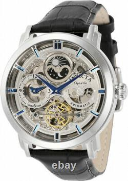 Invicta Men's Objet D'Art Automatic Stainless Steel/Black Leather Watch 32298