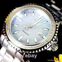Invicta Reserve Grand Diver Diamond Swiss Automatic Steel MOP 47mm Watch New