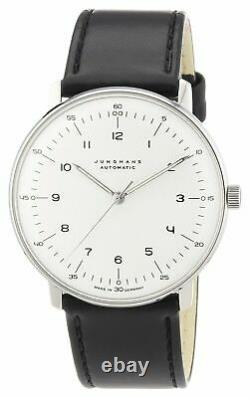 Junghans Mens Max Bill 38mm Automatic Analog Watch 027/3500.04 NEW