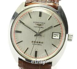 LONGINES Admiral 5 Star Date cal. 505 Silver Dial Automatic Men's Watch 572805