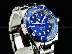 Legend Men Sub mariner Deep Blue Diver Automatic Sapphitek BLUE Dial SS Watch