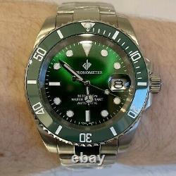 Mens Automatic Watch Giv Hulk Submariner Divers Sapphire Ceramic Nh35 S Steel