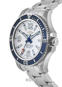 New Breitling Superocean 42 Automatic White Dial Men's Watch A17366D81A1A1