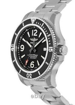 New Breitling Superocean 44 Automatic Black Dial Men's Watch A17367D71B1A1