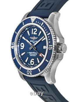 New Breitling Superocean 44 Automatic Blue Dial Men's Watch A17367D81C1S2
