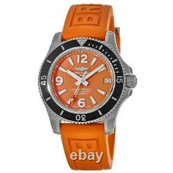 New Breitling Superocean Automatic 36 Orange Dial Women's Watch A17316D71O1S1