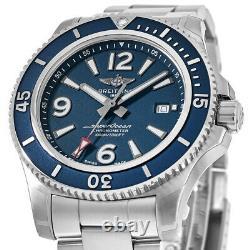 New Breitling Superocean Automatic 42 Blue Dial Steel Men's Watch A17366D81C1A1
