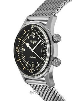 New Longines Legend Diver Automatic 42mm Black Dial Men's Watch L3.774.4.50.6