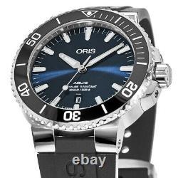 New Oris Aquis Date Automatic Blue Men's Watch 01 733 7730 4135-07 4 24 64EB