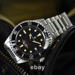 New Steinhart OCEAN One 1 Vintage Red Swiss Automatic Luxury Mens Watch 103-0657