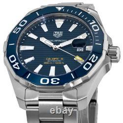 New Tag Heuer Aquaracer 300M Automatic Blue Dial Men's Watch WAY201B. BA0927
