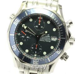 OMEGA Seamaster300 2599.80 Chronograph Navy Dial Automatic Men's Watch 581027