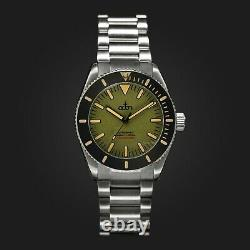 Octon Moss Green with Stainless Steel Bracelet NH35 Automatic Dive Watch