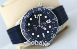 Omega Seamaster 42mm Co-Axial Automatic Watch Blue Ceramic Bezel (2019)