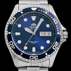 Orient Blue RAY II Automatic, Hand Wind, Hacks, Dive Watch #AA02005D, FAA02005D
