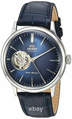 Orient Men's'Bambino Open Heart' Automatic Leather Dress Watch RA-AG0005L10A