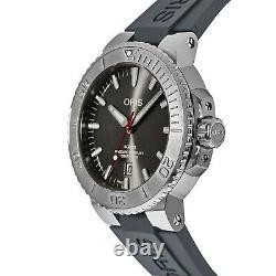 Oris 01 733 7730 4153-07 4 24 63EB Men's Aquis Date Grey Automatic Watch