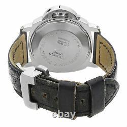 Panerai Luminor Marina Black Dial Date Steel Automatic Mens Watch PAM00104