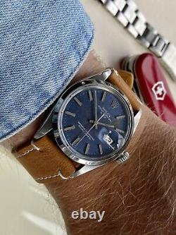 Rolex 1500 Oyster Perpetual Date Blue Dial Automatic vintage Men's 1978 watch