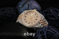 Rolex Datejust 41mm 126303 18kt & SS Fully Iced Out Flower Setting Men's Watch