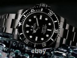 Rolex Submariner Black PVD/DLC Coated Stainless Steel Watch 114060 NEVER WORN