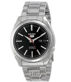 Seiko 5 Automatic Black Dial Stainless Steel Mens Watch SNKL45K1 RRP £169